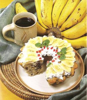 Cake Pisang dengan Kismis