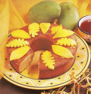 Sunny Manggo Sponge Cake
